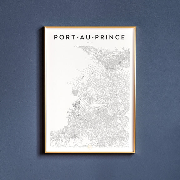 Port-au-Prince, Haiti map poster