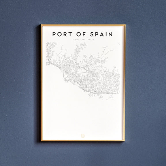 Port of Spain, Trinidad and Tobago map poster