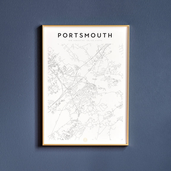 Portsmouth, New Hampshire map poster
