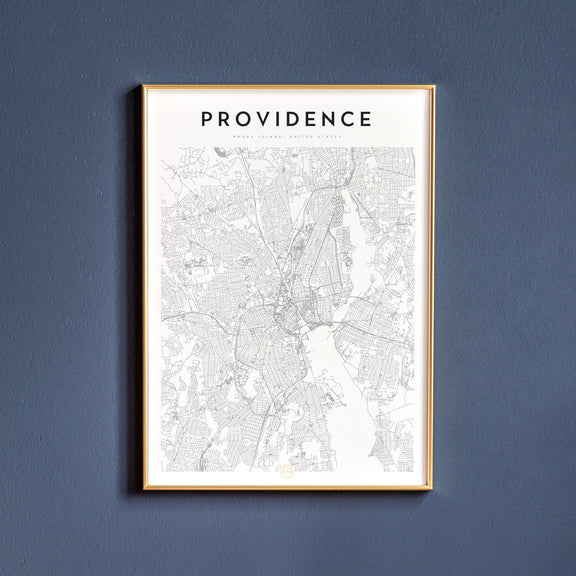 Providence, Rhode Island map poster