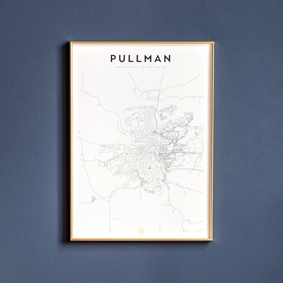 Pullman, Washington map poster