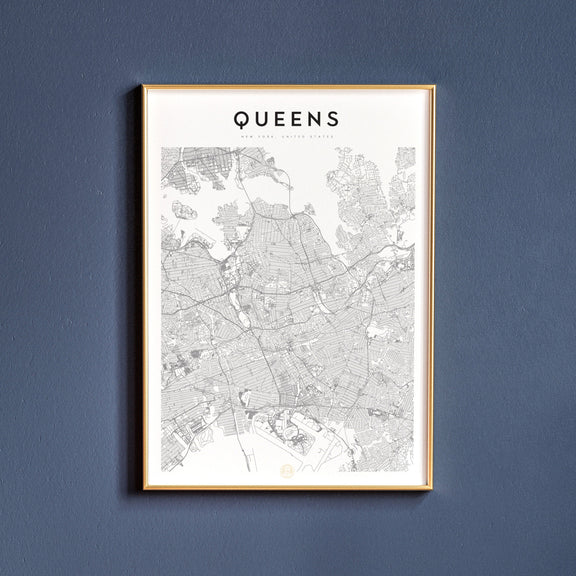 Queens, New York map poster