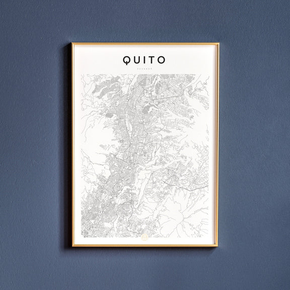 Quito, Ecuador map poster