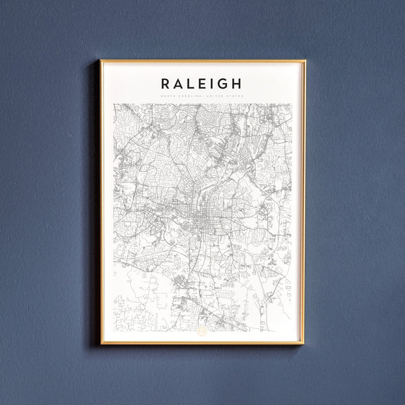 Raleigh, North Carolina map poster