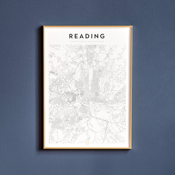 Reading, Pennsylvania map poster