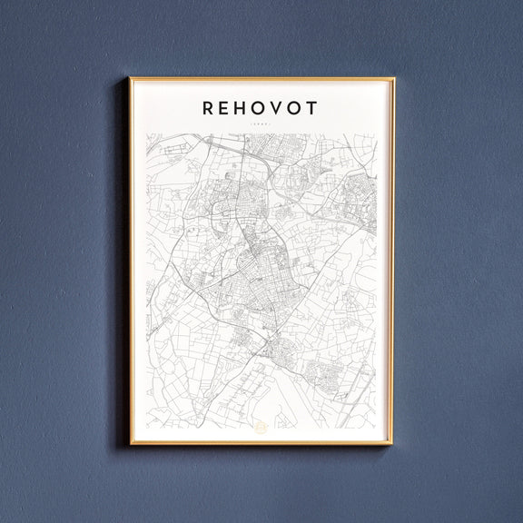 Rehovot, Israel map poster
