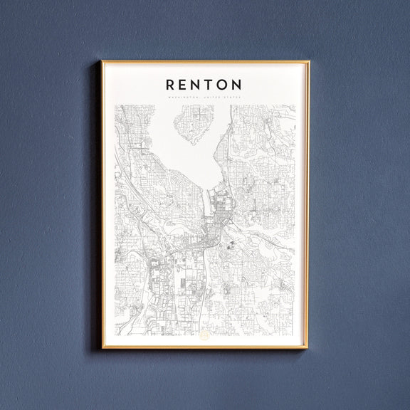 Renton, Washington map poster