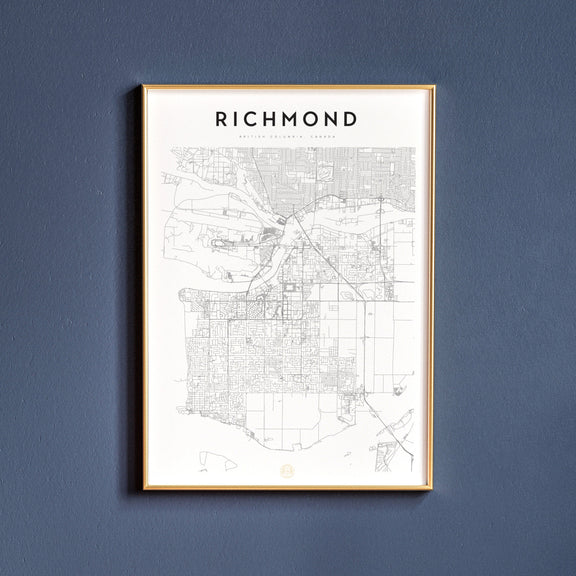 Richmond, British Columbia map poster