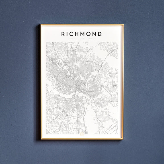 Richmond, Virginia map poster