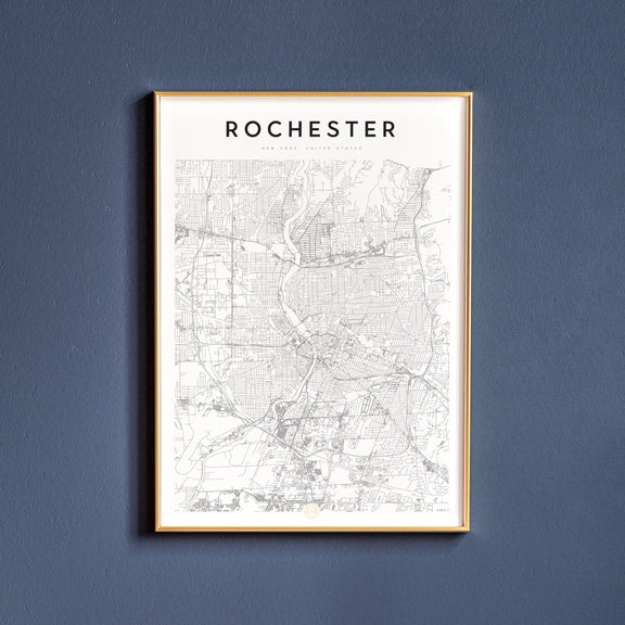 Rochester, New York map poster