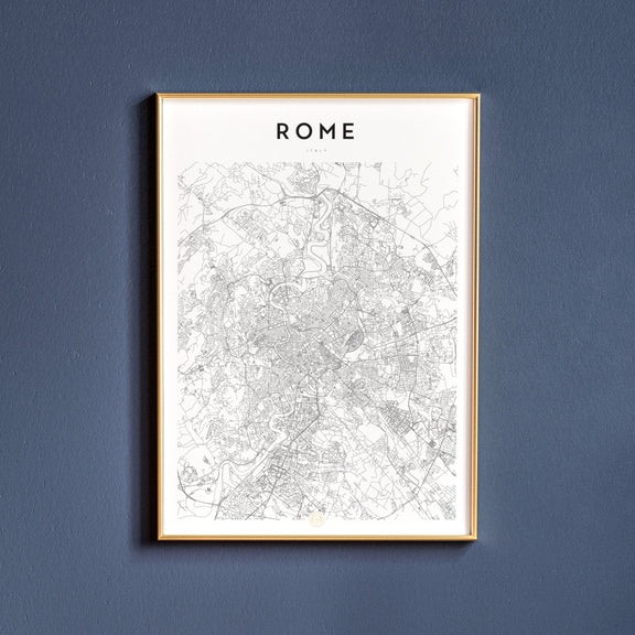 Rome, Italy map poster