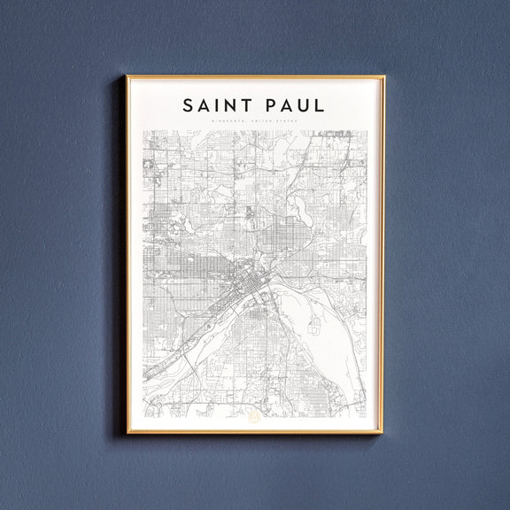 Saint Paul, Minnesota map poster