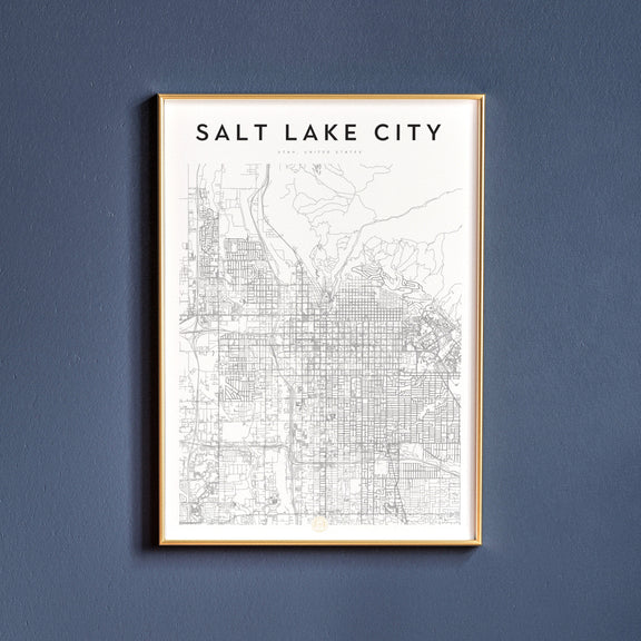 Salt Lake City, Utah map poster