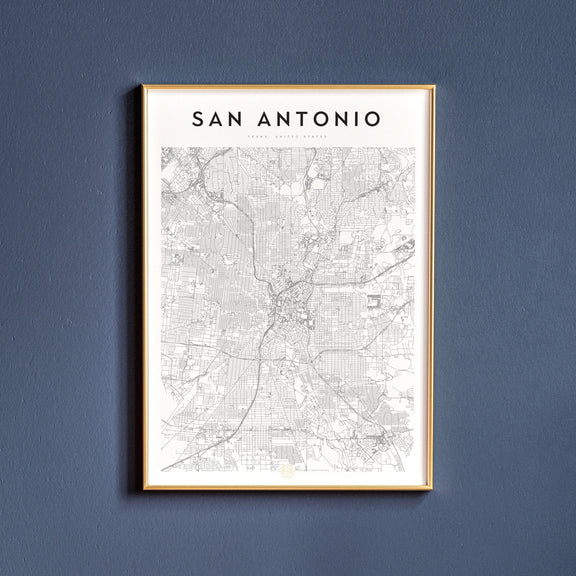 San Antonio, Texas map poster