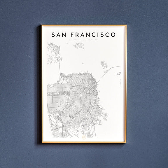 San Francisco, California map poster
