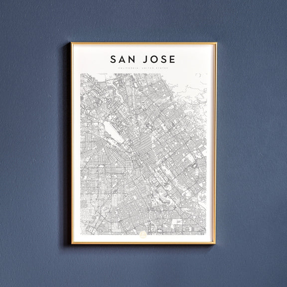 San Jose, California map poster