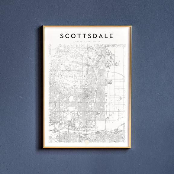 Scottsdale, Arizona map poster