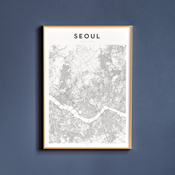 Seoul, South Korea map poster