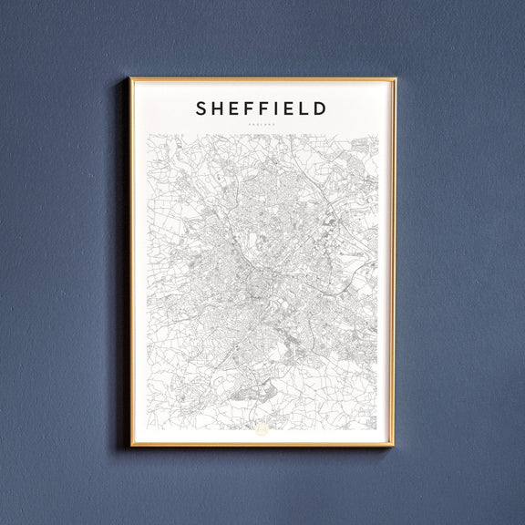 Sheffield, England map poster