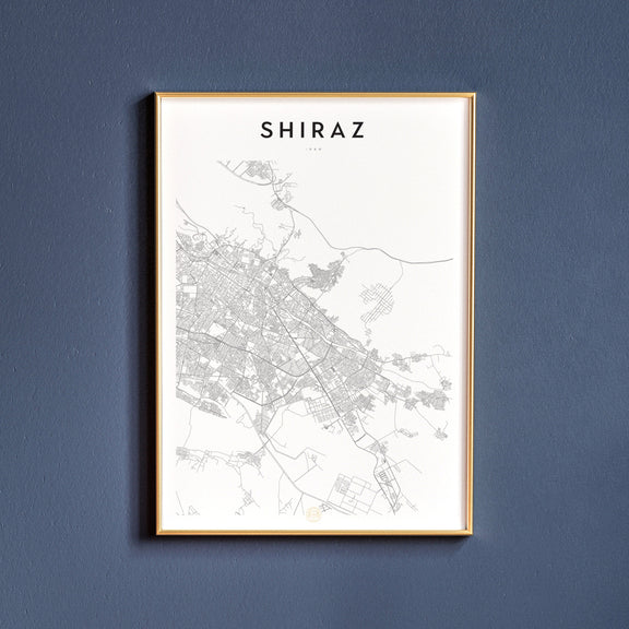 Shiraz, Iran map poster