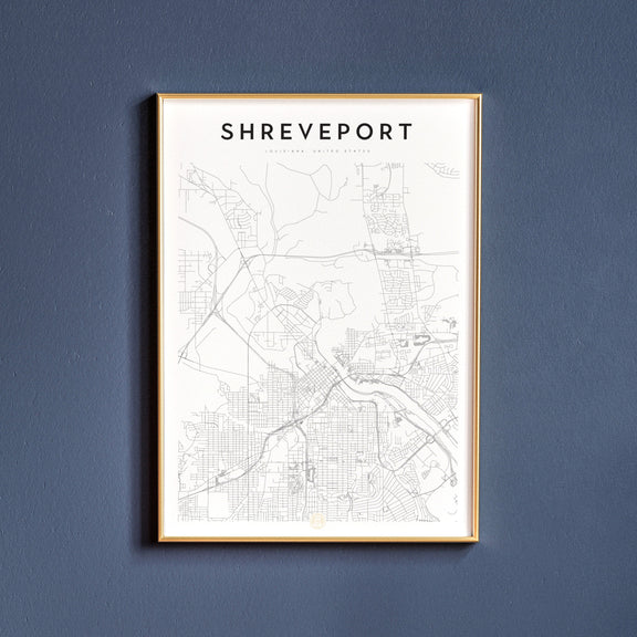 Shreveport, Louisiana map poster