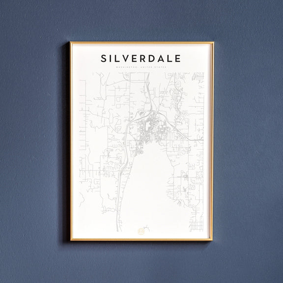 Silverdale, Washington map poster