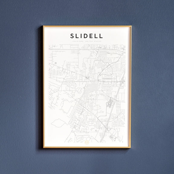 Slidell, Louisiana map poster