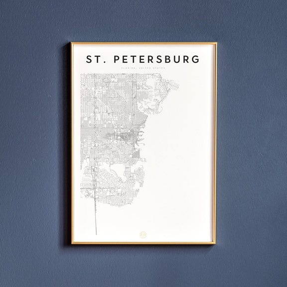St. Petersburg, Florida map poster