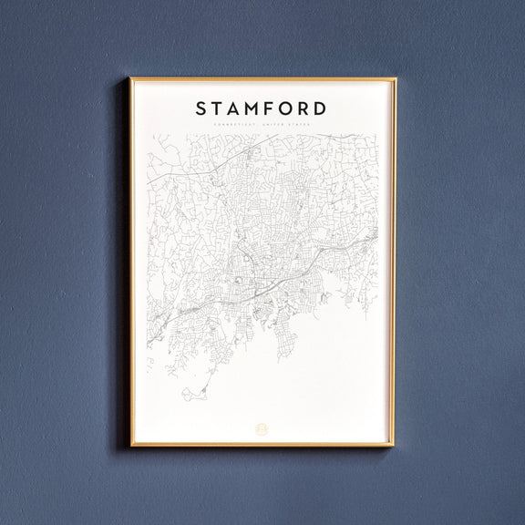 Stamford, Connecticut map poster