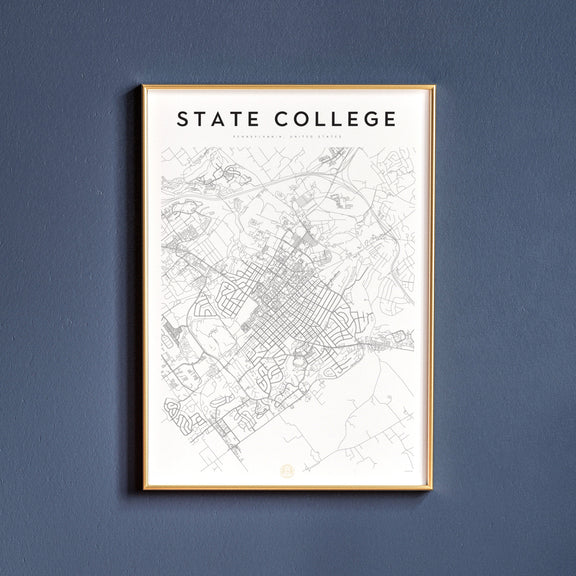 State College, Pennsylvania map poster