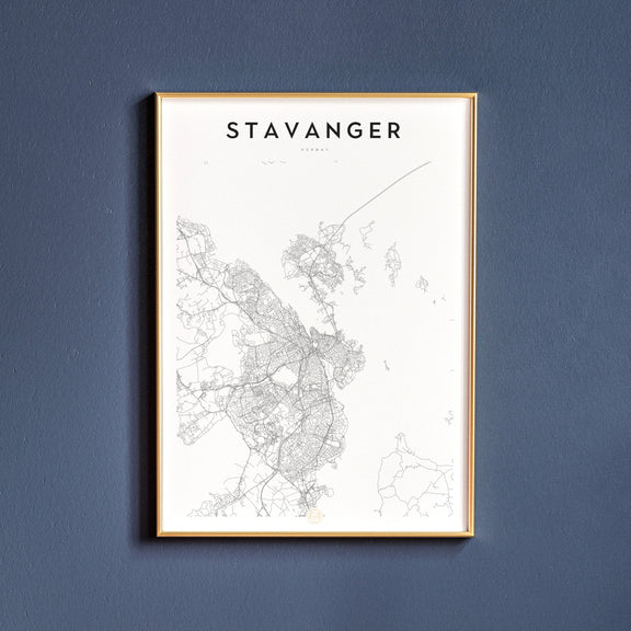Stavanger, Norway map poster