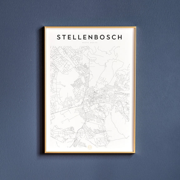 Stellenbosch, South Africa map poster