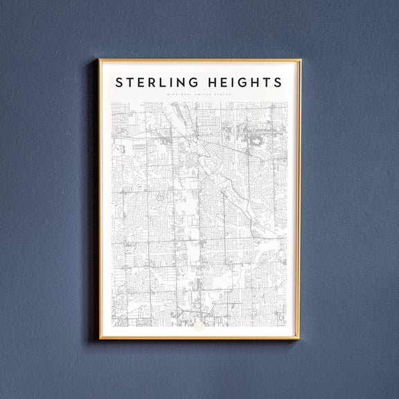Sterling Heights, Michigan map poster