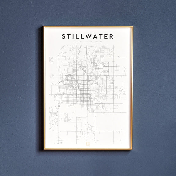 Stillwater, Oklahoma map poster