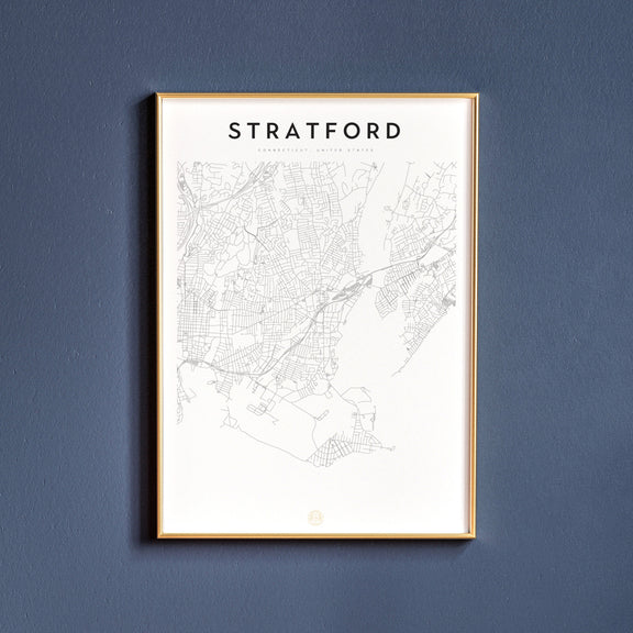 Stratford, Connecticut map poster