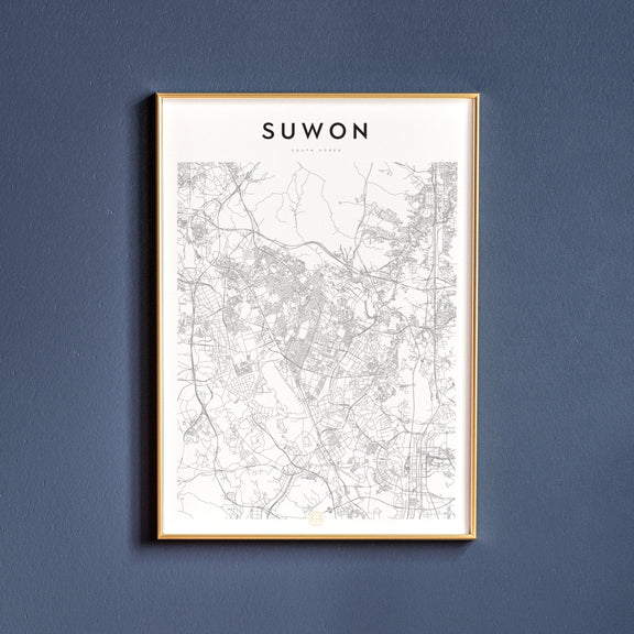 Suwon, South Korea map poster