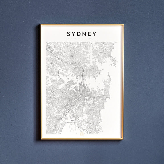 Sydney, New South Wales map poster