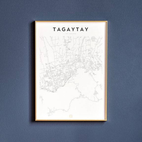 Tagaytay, Philippines map poster