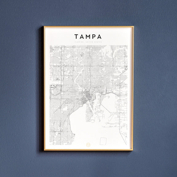 Tampa, Florida map poster