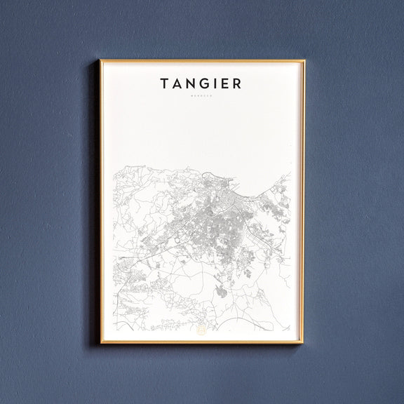 Tangier, Morocco map poster