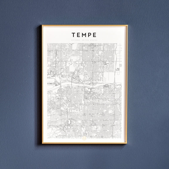 Tempe, Arizona map poster