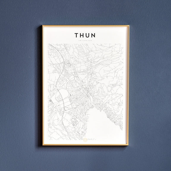 Thun, Switzerland map poster