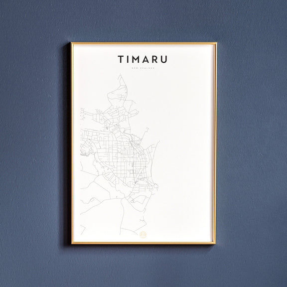 Timaru, New Zealand map poster