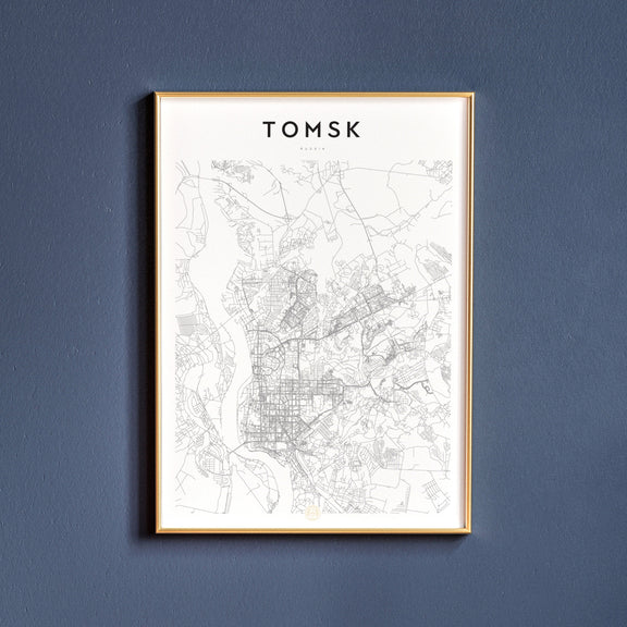 Tomsk, Russia map poster