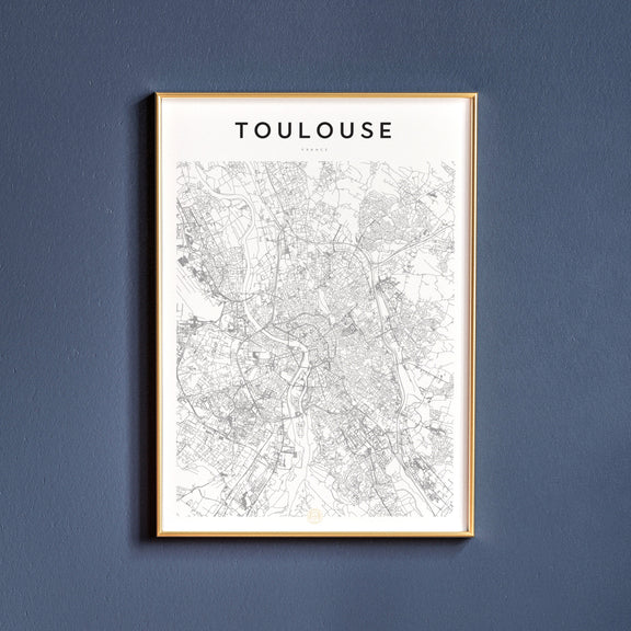 Toulouse, France map poster