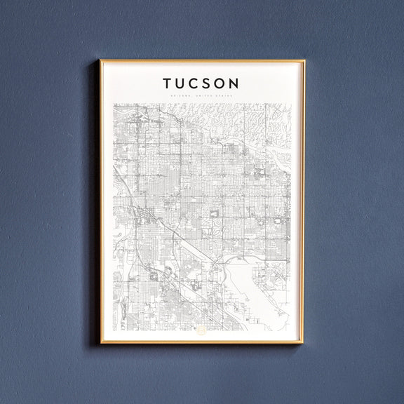 Tucson, Arizona map poster