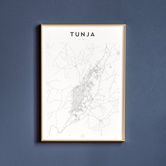 Tunja, Colombia map poster