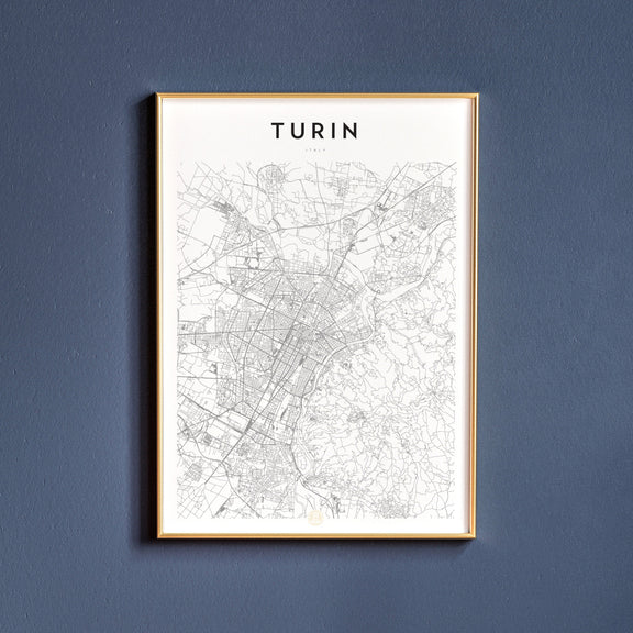 Turin, Italy map poster