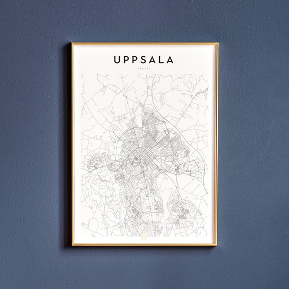 Uppsala, Sweden map poster