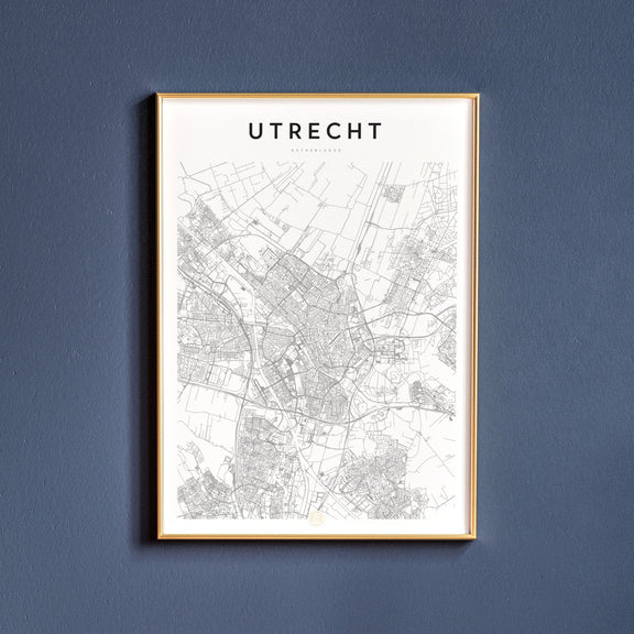 Utrecht, Netherlands map poster